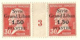 Pasteur, Syrie N°103, Paire Millésime 3 - Unused Stamps