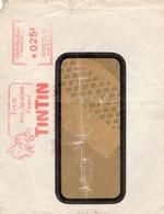 Lettre De 1950 Illustration Tintin Et Milou Tampon - Sin Clasificación