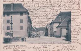 Delsberg, Délémont JU, Grande Rue Et Fontaine (19.7.1905) - JU Jura