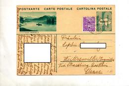 Carte Postale 10 Carte  + Chateau Cachet Bale Illustré Montana - Stamped Stationery