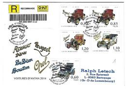 Luxembourg 2014 De Dion Bouton Peugeot Opel Renault Voiture ¦ Car ¦ PKW Auto - Cartas