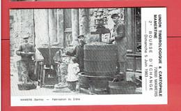 MAMERS PRESSOIR FABRICATION DU CIDRE 1983 BOURSE D ECHANGE TIMBRES CARTES POSTALES CARTE EN TRES BON ETAT - Mamers