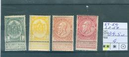 53-54-57-58  Xx Côte 34.50€ - 1893-1900 Fine Barbe