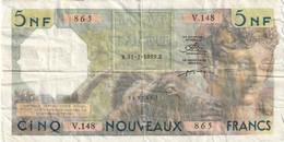 5 NF Algérie 31-7-1959 Rare - Algeria