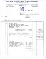 1961 SIMCA SOCIETE BORDELAISE D AUTOMOBILES - VOITURE FIAT M. SABATHIE A CAUDERAN - Cars