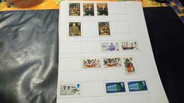 DM291 LOT FEUILLES GRANDE BRETAGNE NEUFS / OB A TRIER COTE++ DÉPART 10€ - Sammlungen (im Alben)