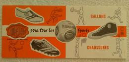 Buvard PUB HUNGARIA POUR TOUS LES SPORTS CHAUSSURES BALLONS PRODUIT EN FRANCE ILLUSTRATEUR RUGBY FOOT BOXE VOLLEY HAND - Sports