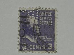 Etats-Unis1938  N° 372 Perforé Oblitéré - Perforados