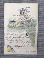 Collection Des Cent Nº 31. Illustrateur A. Gorguet. Cachet APN 870 Et SCE Hispania 9. Art Nouveau, Jugendstil. - Andere Illustrators