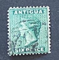 Timbre-Poste Antigua Six Pence - 1858-1960 Kronenkolonie