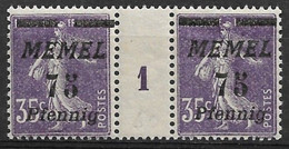 Semeuse Camée, Memel N°55, Paire Millésime 1 - Unclassified