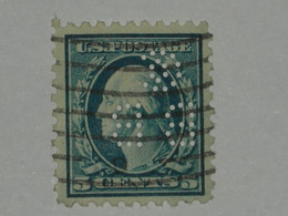 Etats-Unis N° 171 Perforé Oblitéré Papier Azuré - Perforados