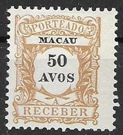 Macao Mint No Gum 40 Euros 1904 - Segnatasse