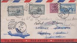 LSC - CANADA : OTTAWA 1949 Pour HAÏPHONG , Réexpédié à GOURNAY-S-MARNE - Briefe U. Dokumente