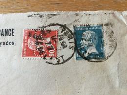 K16 France PERFIN 1927 Lettre De Paris Pour Solothurn Suisse - Storia Postale