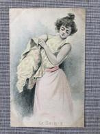 Illustrateur Henri Boutet. Serie Le Bain Nº3. Art Nouveau, Jugendstil. - Boutet