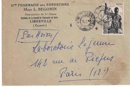 GABON LIBREVILLE - Enveloppe De La PHARMACIE Des FORESTIERS Mme BEGONIN -170221 - Gabun
