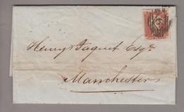 Grossbritannien 1845-12-11 London Brief Nach Manchester Mit 1 P. Ungezähnt - Briefe U. Dokumente