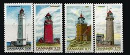 DANEMARK. Célèbres Phares Du Danemark:  Fornæs,Blåvand,Bovbjerg,Møn. Complete Set Neufs ** / MNH - Lighthouses