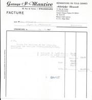 1961 STRASBOURG - GARAGE ST MAURICE RUE DE VERDUN - REPARATIONS EN TOUS GENRES - ADOLPHE BRUNCK - Cars