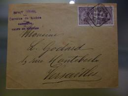 D.MANUEL II - ESTAÇÂO CENTRAL DOS CORREIOS DE LISBOA / GABINETE CHEFE DE SERVIÇO A VERSAILLES - Covers & Documents