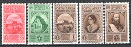 Colonie Em.Generali 1932 Sass.A1/5 **/MNH VF/F - Algemene Uitgaven