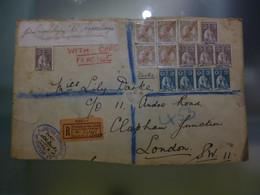 CABO VERDE - D.MANUEL II C/ SOBRECARGA -  TIPO CERES  -  BONITA FRANQUIA - Kapverdische Inseln
