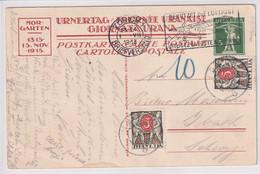 Illustrierte Postkarte - 600 Jahre Schlacht Bei Morgarten 15. November 1315 - 1915 - Mit Nachportomarken - Heimat