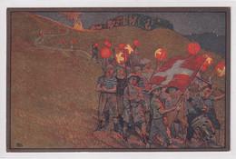 1912 Bundesfeierkarte - Kinder Mit Lampions - Mit Dreifarbenfrankatur - Gelaufen Ab ENGELBERG Obwalden - Heimat