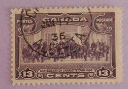 "CANADA YT 186 OBLITÉRÉ  OBLITERATION ALBERTA 17 JAN  36   CHARLOTTETOWN"" ANNÉE 1935 - Oblitérés"