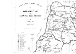 "Kaart Belg. Congo I.v.m. ""Organisation Du Service Des  Postes"" - Sin Clasificación"