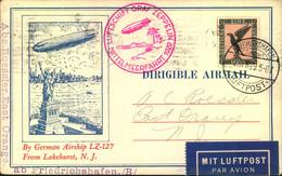 1929, LZ 127, MITTELMEERFAHRT, Dekorative Karte Ab F' Hafen - Zeppelin