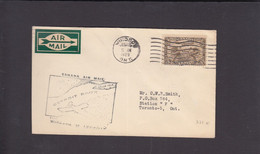 2021_28 Canada Air Mail First Flight Cover   Windsor 1929 Toronto Detroit River - Aéreo