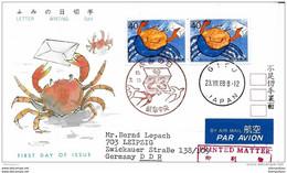 99 - 24 - Enveloppe Envoyée Du Japon En DDR 1988 - Oblit Spéciale - Cartas