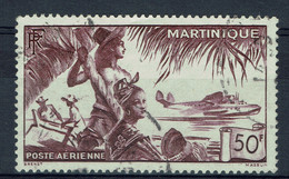 Martinique, 50f., Hydravion, 1947, Obl, TB Poste Aérienne joli Timbre - Airmail