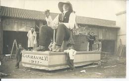 CPA PHOTO SALLIS NARBONNE - CARNAVAL . VI 1913  ( BON PLAN Les Créateur Du Char ) - Narbonne