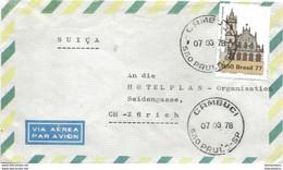 29 - 99 - Enveloppe Envoyée De Cambuci En Suisse 1978 - Cartas