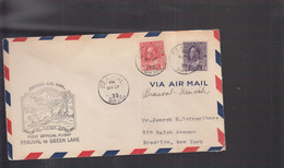 2021_28 Canada Air Mail First Flight Cover   Beauval  Grenn Lake Hare Lepre Rabbit - Aéreo