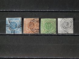 DANEMARK - 1854/1864 - N° 3/6 O (voir 2 Scan) - Oblitérés