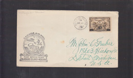 2021_28 Canada Air Mail First Flight Cover  Mc Kenzie Kenora Moose Alce Oca Goose 1934 - Aéreo