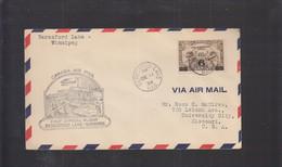 2021_28 Canada Air Mail First Flight Cover  Beresford Lake Winnipeg Pioneer 1934 - Aéreo
