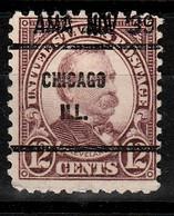 A- USA Precancel Locals CHICAGO ILL. Used - Preobliterati