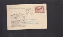 2021_28 Canada Air Mail First Flight Cover  1937 Fond Du Lac Prince Albert - Aéreo