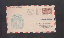 2021_28 Canada Air Mail First Flight Cover  1935 Alifax Sydney Goose Swan Cigno Public Garden - Aéreo