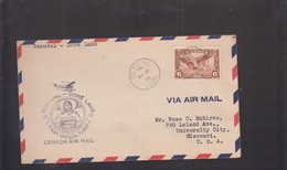 2021_28 Canada Air Mail First Flight Cover  1935 Beauval Dore Lake Indian Squaw - Aéreo