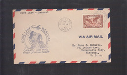 2021_28 Canada Air Mail First Flight Cover  1935 Dore Lake Beauval Indian - Aéreo