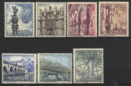 España, 1965, Serie Turìstica (Grupo II), 25-70 C., 2,50-2,50, 6 P., MNH** - 1961-70 Nuevos & Fijasellos