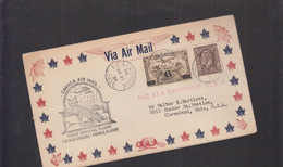 2021_28 Canada Air Mail First Flight Cover  1934 Ile A La Crosse Prince Albert - Aéreo