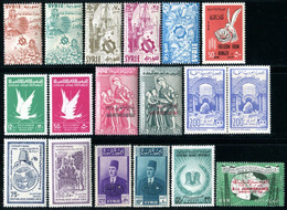 """SYRIE / SYRIA  1958 - 19XX  MNH   -  """" DIVERS THEMES """"   -   18 VAL. - Syria"""