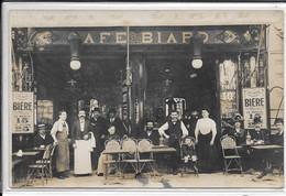 Carte Photo - Cafe Biard 7 Avenue De Clichy Paris 18e - Bottin 1913 P 399 - Arrondissement: 18